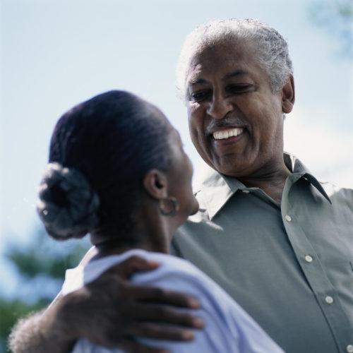 Senior Couple Sharing Look ca. 2002